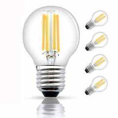Vintage Filament Bulb E27 4W Edison Bulbs Dimmable 40W Incandescent Bulb Replacement G45 Filament LED Light Globe Bulb Warm White 2700K (4-Pack)