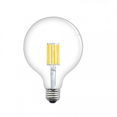 Bonlux 12W Dimmable G40 LED Edison Filament Bulb E26 Screw Base G125 Vintage LED Clear Glass Globe Light Bulb 120W Incandescent Replacement Bulb